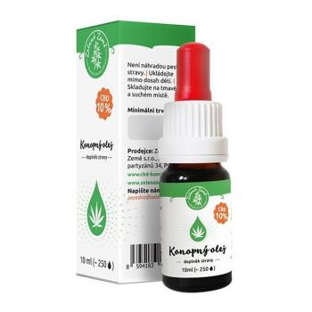 ZELENÁ ZEMĚ CBD 10% konopný olej 10 ml