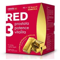 CEMIO RED3 Prostata, vitalita, potence 90+15 kapslí EDICE 2020