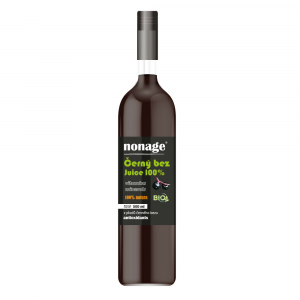 NONAGE Černý bez 100% Juice Premium 500 ml BIO