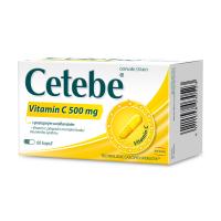CETEBE Vitamin C 500 mg s postupným uvolňováním 60 kapslí