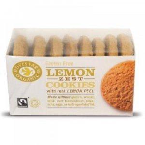 DOVES FARM BIO a FAIR TRADE Citronové cookies bez lepku 150 g