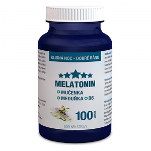 CLINICAL Melatonin Mučenka Meduňka B6 100 tablet