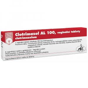 CLOTRIMAZOL AL 100 mg 6 vaginálních tablet