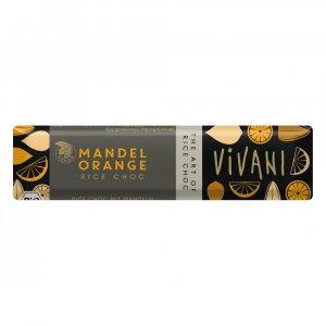 Čoko tyčinka s rýžovým mlékem, mandlemi a pomerančem VIVANI  35g - BIO