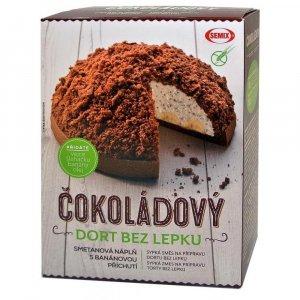 SEMIX Čokoládový dort bez lepku 430 g