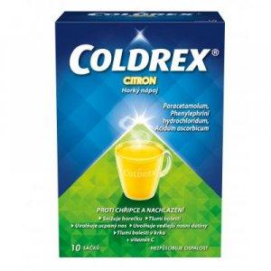 COLDREX Horký nápoj citron prášek pro roztok 10 sáčků