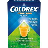 COLDREX Horký nápoj citron med prášek pro perorální roztok 10 sáčků