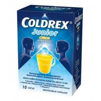 COLDREX Junior citron Prášek pro roztok 10 sáčků