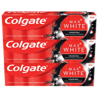 COLGATE Zubní pasta Max White Charcoal  3x 75 ml