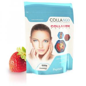 COLLANGO Collagen hydrolyzovaný kolagen s vitamínem C a se zinkem příchuť jahoda 330 g