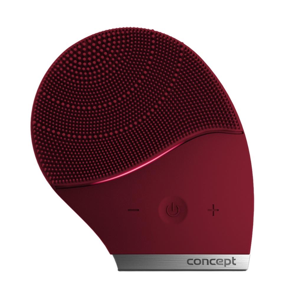 CONCEPT SK9001 Čisticí sonický kartáček na obličej burgundy