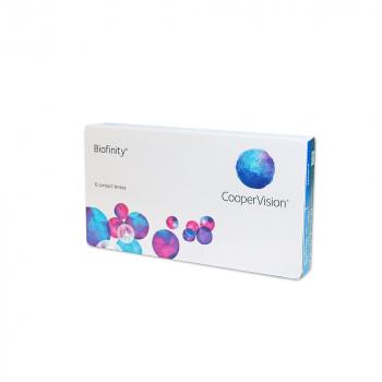 COOPERVISION Biofinity měsíční čočky 6 kusů, Počet dioptrií: -2,00, Počet kusů v balení: 6 ks, Průměr: 14,0, Zakřivení: 8,6