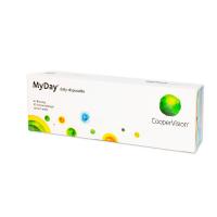 COOPERVISION MyDay Daily Disposable jednodenní čočky 30 kusů, Počet dioptrií: +1,00, Průměr: 14,2, Zakřivení: 8,4, Počet kusů v balení: 30 ks