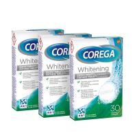 COREGA Whitening antibakteriální tablety 3 balení 30 kusů