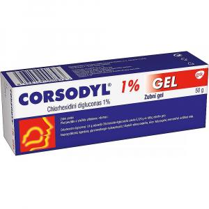 CORSODYL 1% Zubní gel 50 g