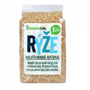 COUNTRY LIFE Rýže kulatozrnná natural BIO 500 g