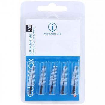 CURAPROX Náhradní mezizubní kartáčky na čištění implantátů Soft Implant Černá CPS 508 5 ks