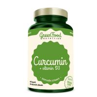 GREENFOOD NUTRITION Curcumin + Vitamin D3 60 kapslí