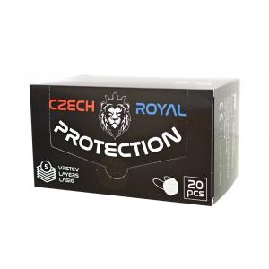 CZECH ROYAL PROTECTION FFP2 20 kusů Jednorázový ochraný respirátor