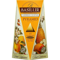 DÁREK BASILUR Fruit Infusions Caribbean Cocktail Pyramid 15x2g