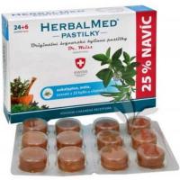 DÁREK DR. WEISS HerbalMed pastilky Eukalypt + máta + vitamín C 24+6 pastilek