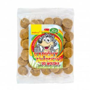 DÁREK WOLFBERRY Kapičky z kapsičky od Wolfíka jablko, banán, špenát 18 g BIO