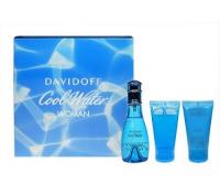 Davidoff Cool Water Toaletní voda 50ml Edt 50ml + 50ml tělové mléko + 50ml sprchový gel