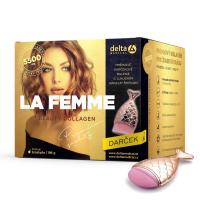 DELTA COLLAGEN La Femme beauty 196 g + štětec na make up