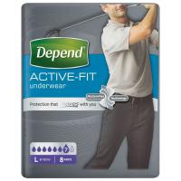 DEPEND Active-Fit absorpční kalhotky pro muže 7 kapek vel. L 8 kusů