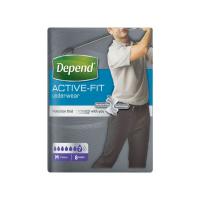 DEPEND Active-Fit inkontinenční kalhotky pro muže 7 kapek vel. M 8 kusů
