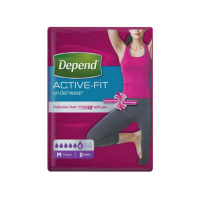 DEPEND Active-Fit kalhotky 6 kapek vel M 8 kusů