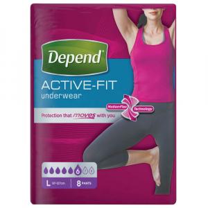 DEPEND Active-Fit kalhotky 6 kapek vel. L 8 kusů