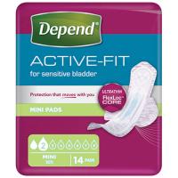 DEPEND Active-Fit mini dámské inkontinenční vložky 2 kapky 14 kusů