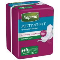 DEPEND Active-Fit normal inkontinenční vložky 3 kapky 12 kusů