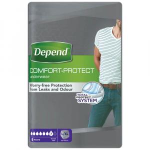 DEPEND Normal natahovací kalhotky pro muže L/XL 9 kusů