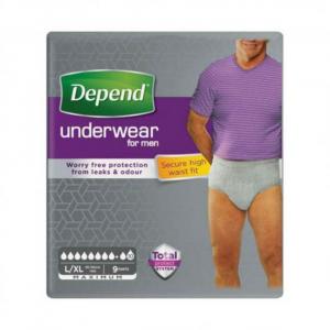 DEPEND Super natahovací kalhotky pro muže 8 kapek vel L/XL 9 kusů