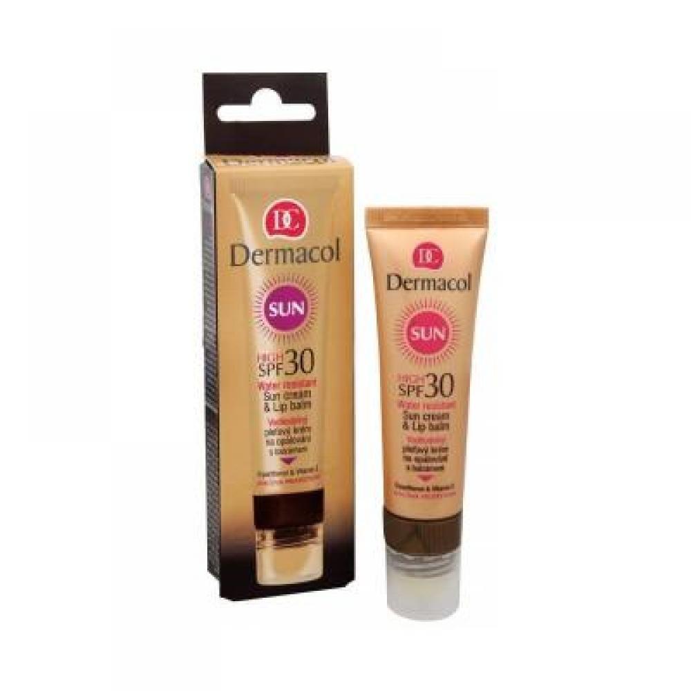 Dermacol Sun Cream & Lip Balm SPF30 na opalování voděodolný 30 ml
