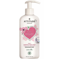 ATTITUDE Baby leaves dětské tělové mýdlo a šampon 2 v 1 bez vůně 473 ml