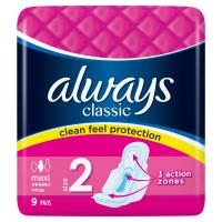 ALWAYS Classic Long Hygienické Vložky s křidélky 9 ks