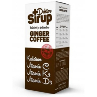 DOKTOR SIRUP Kalciový Ginger Coffee 200 ml