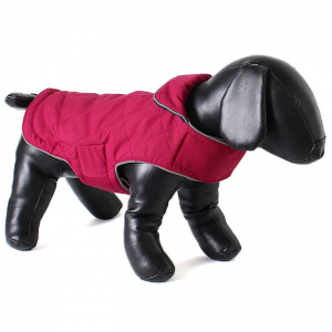 Doodlebone oboustranná zimní bunda, raspberry/navy, velikost L