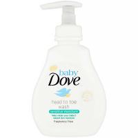 DOVE Baby Sensitive Moisture Mycí gel na celé tělo i vlásky 200 ml