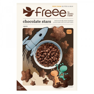DOVES FARM-FREEE Čokoládové hvězdičky bez lepku 300 g BIO