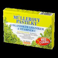 DR. MÜLLER Müllerovy pastilky s islandským lišejníkem a vitaminem C 12 pastilek