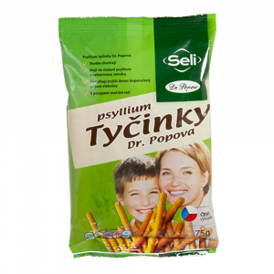 DR. POPOV Psyllium tyčinky 75 g
