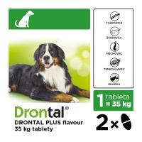DRONTAL Plus flavour pro psy nad 35 kg a.u.v. 2 tablety