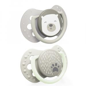 LOVI Dudlík silikonový dynamický 0-3m BUDDY BEAR  2 ks