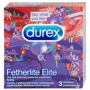 DUREX Fetherlite Elite Kondomy 3 ks (Emoji)
