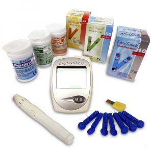 EASYTOUCH Cholesterolmetr GCU 3v1 + 3 krabičky proužků