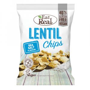 EAT REAL Lentil Chips s mořskou solí 40 g BEZ lepku